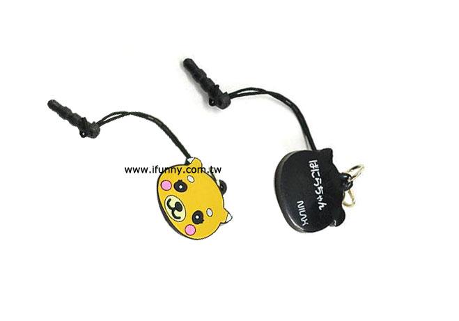 卡通耳機塞吊飾